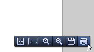 Google Chromeの印刷アイコン