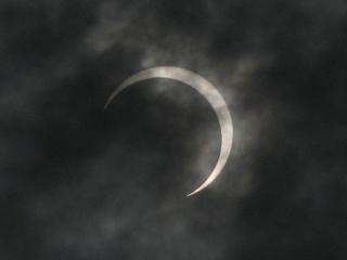 2012年5月21日金環日食の直後