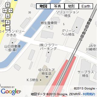 ソルボンヌ柿生(旧フラワーパーキング)付近